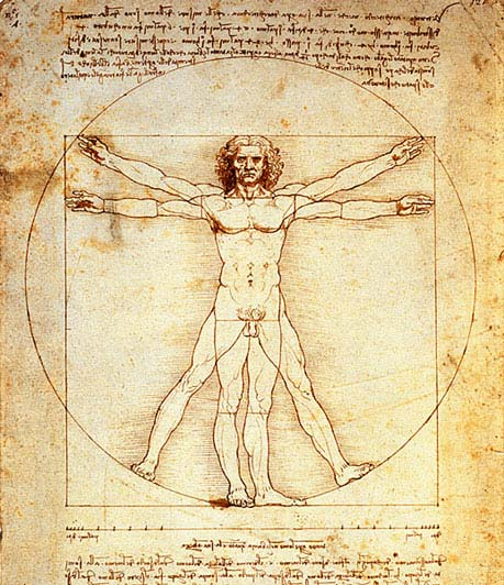 The Vitruvian Man by Leonardo da Vinci (c. 1485)